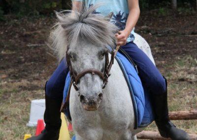 garçon sur son poney